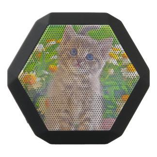 Kitten and Flowers Black Bluetooth Speaker