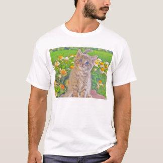 Kitten and Flowers T-Shirt
