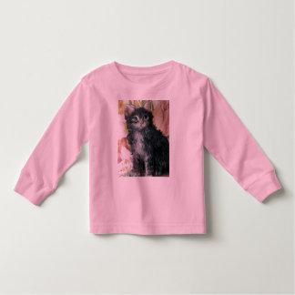 Kitten And Flowers Toddler T-shirt