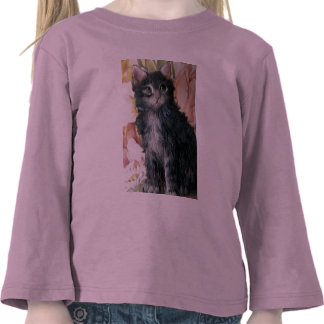 Kitten And Flowers T Shirts