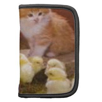 Kitten and Fluffy Chicks Folio Planner