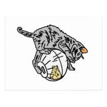 Kitten And Hamster Postcard