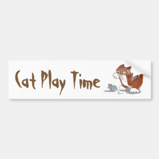 Kitten and Mouse Toy Car Bumper Sticker
