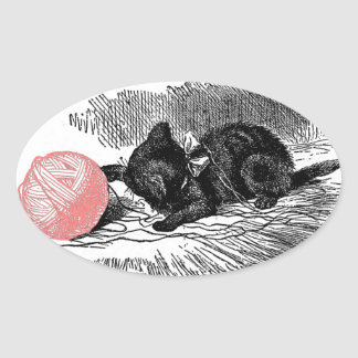 Kitten and Pink Yarn Stickers