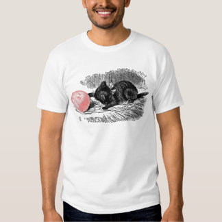 Kitten and Pink Yarn Tee Shirt