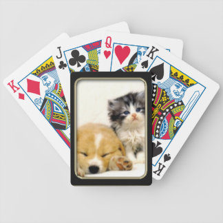Kitten and Puppy Photo Art Playing Cards