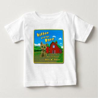 Kitten and the Barn Baby T-Shirt