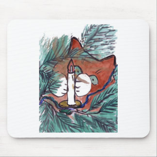 Kitten and the Candle Light String Mouse Pad