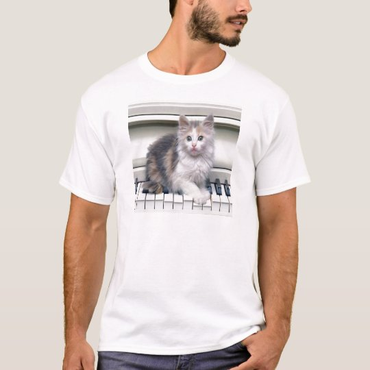 Kitten And The Piano T-Shirt