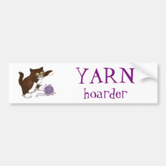 Kitten and the Purple Ball of Yarn Bumper Sticker