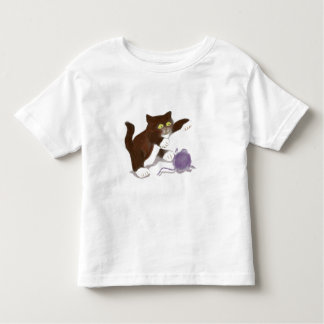 Kitten and the Purple Ball of Yarn Toddler T-shirt