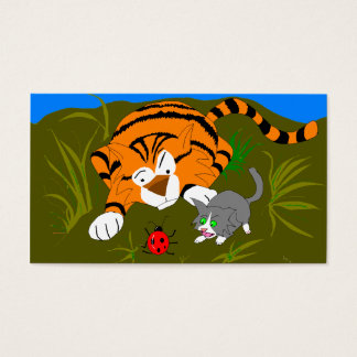 Kitten And Tiger ACEO Business Card