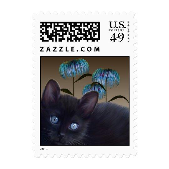 Kitten Asiatic flowers Postage