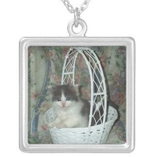 Kitten Basket, Necklace