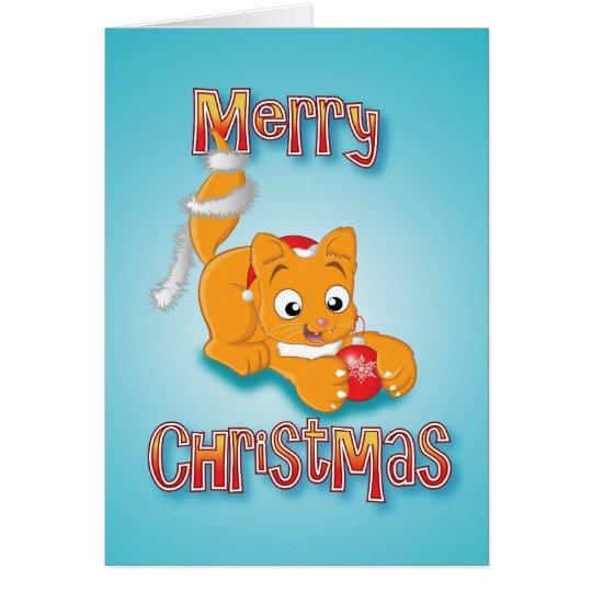 kitten - bauble&tinsel - merry christmas card
