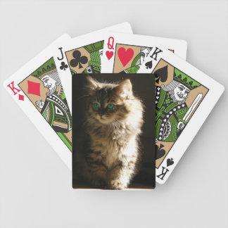 Kitten Bicycle Playing Cards