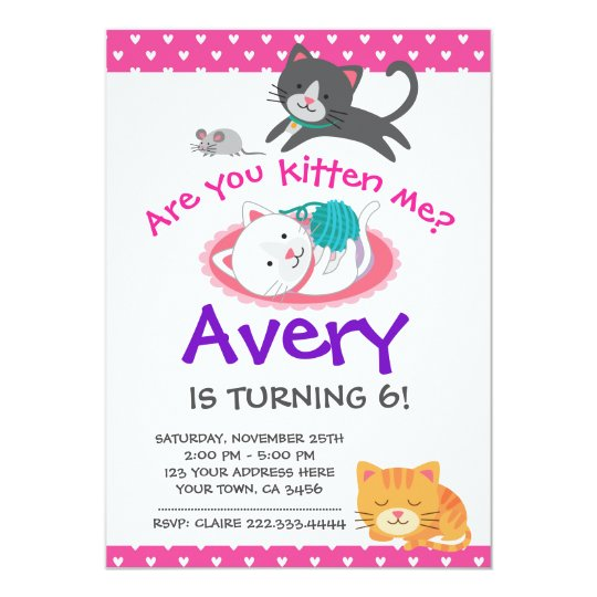 Kitten birthday invitation pet adoption party card zazzle kitten birthday invitation pet adoption party card filmwisefo Image collections