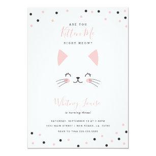 Kitten birthday invitations zazzle kitten birthday party invitations filmwisefo