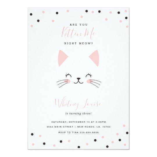 Kitten birthday party invitations kitten birthday party invitations filmwisefo