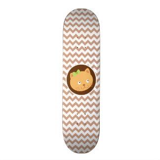 Kitten Brown Chevron Skate Deck