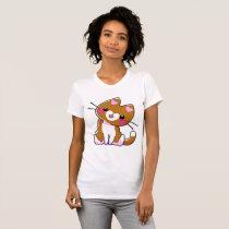 Kitten Brown Heart T-Shirt