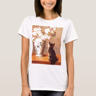 Kitten, Butterfly and Flowers T-Shirt