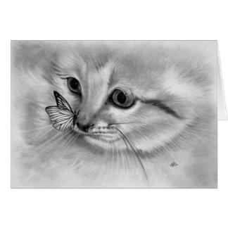 Kitten Butterfly Card