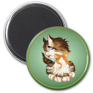 Kitten Button Magnet