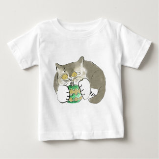 Kitten Carl Loves to Play with Ornaments Baby T-Shirt