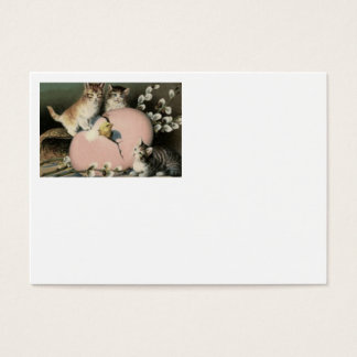 Kitten Cat Easter Chick Colored Painted Egg Business Card