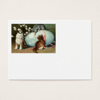 Kitten Cat Easter Colored Painted Egg Business Card