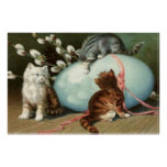 Kitten Cat Easter Colored Painted Egg Poster