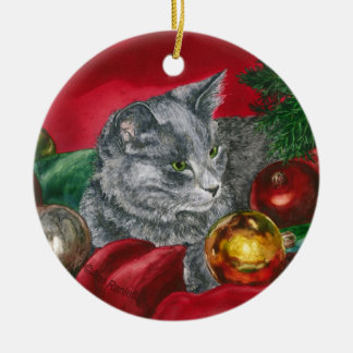 """Kitten, Cat Ornament - """"Home for the Holidays"""""""