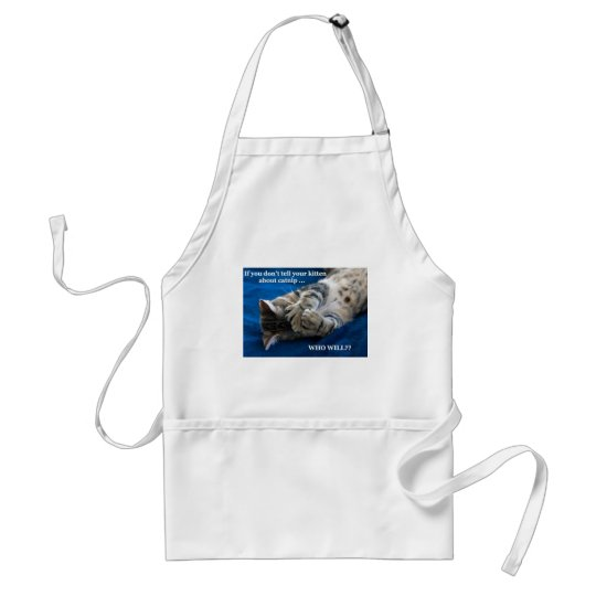 Kitten catnip adult apron