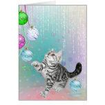 Kitten Christmas Greeting Card