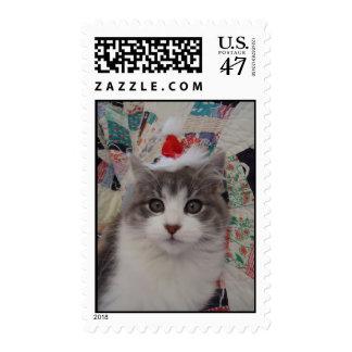 Kitten Christmas Postage