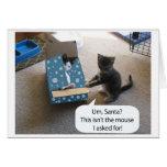 Kitten Christmas Surprise card