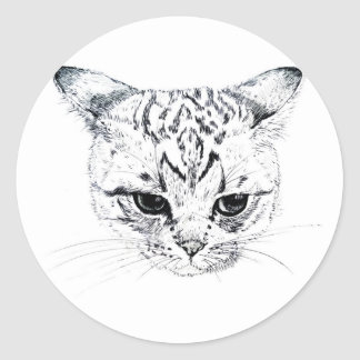 Kitten Classic Round Sticker