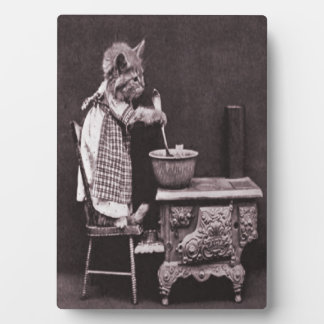 Kitten Cooking On Stove Plaque