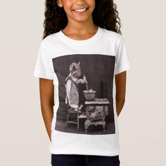 Kitten Cooking On Stove T-Shirt