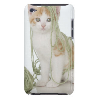 Kitten covered in yarn barely there iPod case