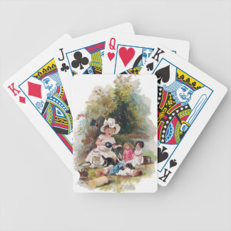Kitten Crashes Victorian Tea Party Bicycle Playing Cards