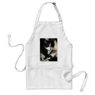 Kitten decal adult apron