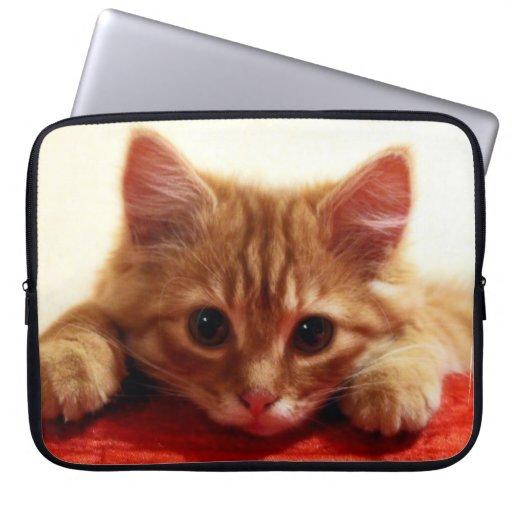 kitten design computer sleeve