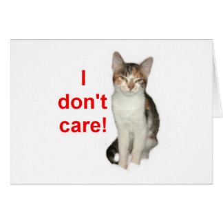 Kitten Doesnt Care Card