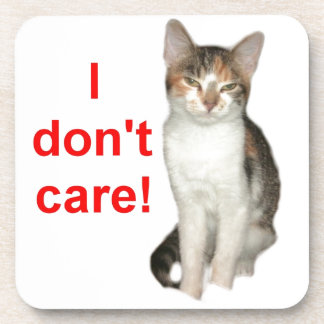 Kitten Doesnt Care Coaster