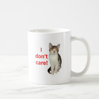 Kitten Doesnt Care Classic White Coffee Mug