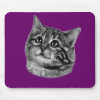 Kitten Drawing Mouse Pad