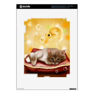 Kitten Dreaming Skin For iPad 3