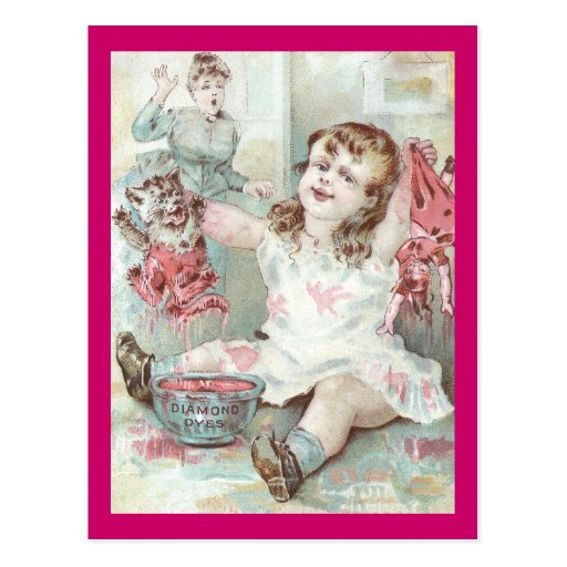 Kitten Dyed Pink by Girl Postcards